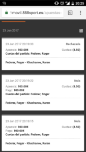 888Sport Rejected and Void Bets